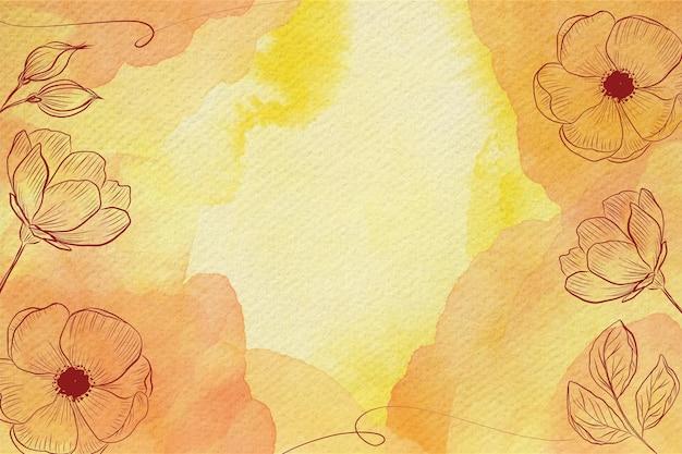 パウダーパステル花水彩背景