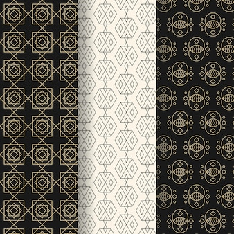 Дизайн коллекции геометрических узоров