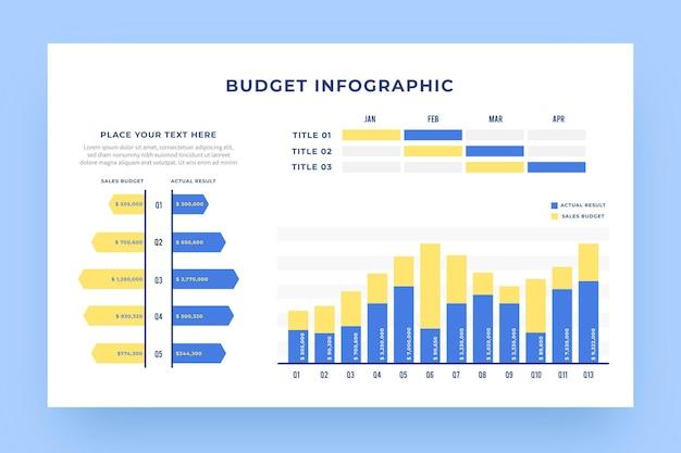 イラスト付きの要素を持つ予算インフォグラフィック