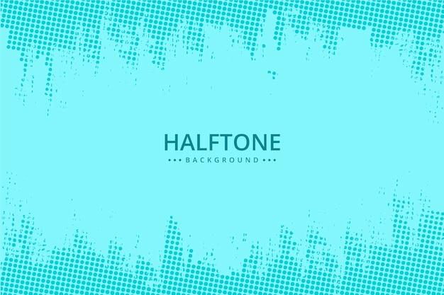 抽象的なハーフトーンの背景水色のトーン