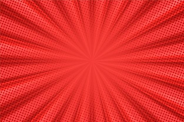 抽象的なハーフトーンの背景の赤い線