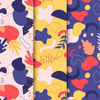 抽象的な手描きパターンコレクション