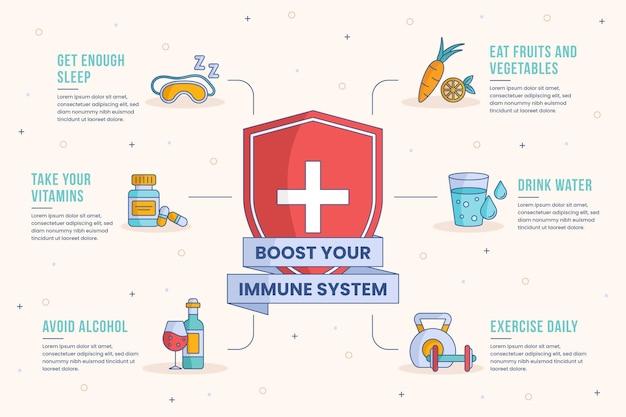 Повысьте свою иммунную систему инфографики