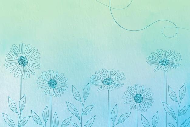 手描きの要素-背景とパウダーパステル