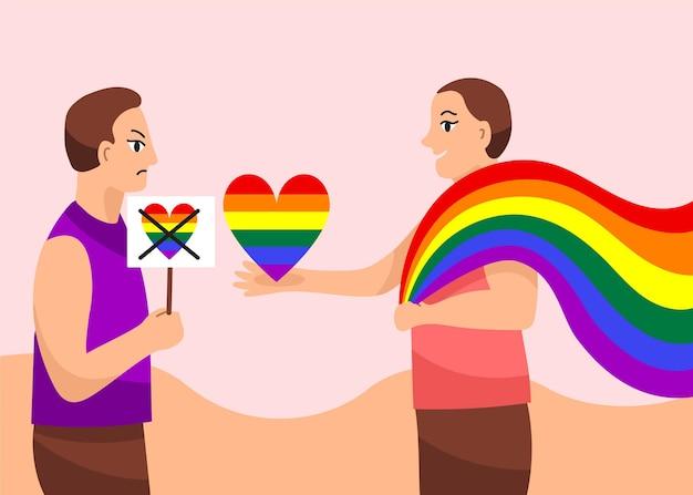 Концепция иллюстрации гомофобии