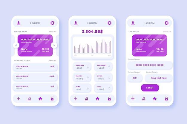 Концепция интерфейса банковского приложения