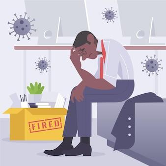 コロナウイルスの概念による失業