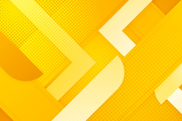 黄色のハーフトーンの背景の色合い