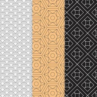 カラフルな最小限の幾何学模様セット