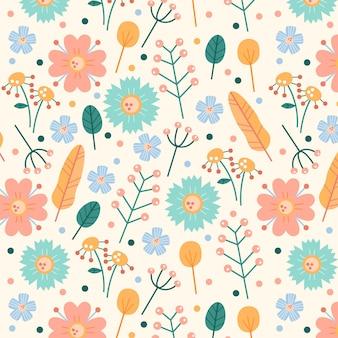 Цветочные узоры в пастельных тонах