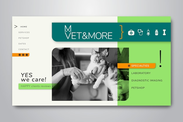 Шаблон целевой страницы для ветеринарного бизнеса