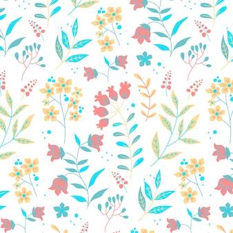 Цветочный узор пакет пастельных цветов