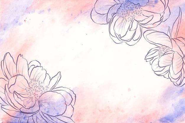 Порошок пастельных элементов фона концепции