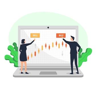証券取引所のデータコンセプト
