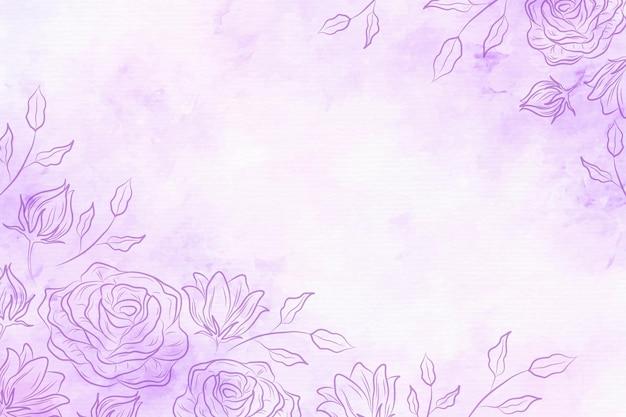Пудра пастель с рисованной элементами - фон