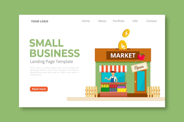 Целевая страница малого бизнеса