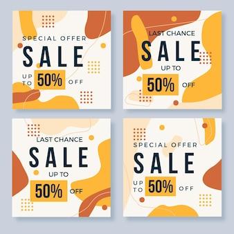 Жидкий эффект органических продаж коллекции социальных медиа