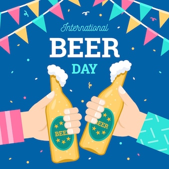 Международный день пива, приветствующий бутылками