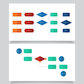 フロー図インフォグラフィックテンプレート