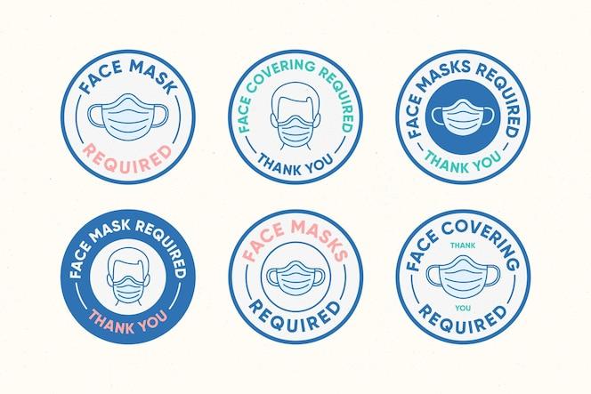 Требуется маска для лица - коллекция знаков