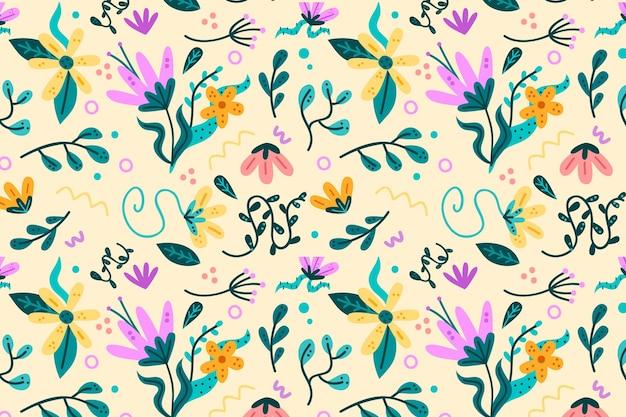 Цветочный узор пакет в пастельных тонах дизайн