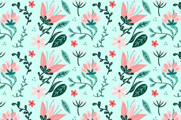 Концепция пастельных цветов пакета цветочного узора