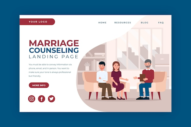 Брак консультирование - целевая страница