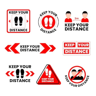距離標識のコレクションを保管してください