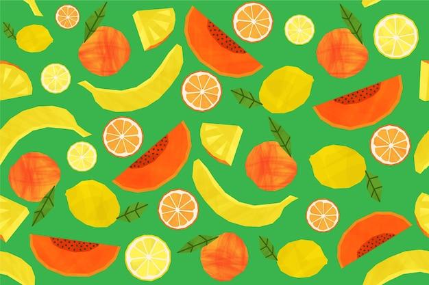 Концепция коллекции шаблонов фруктов