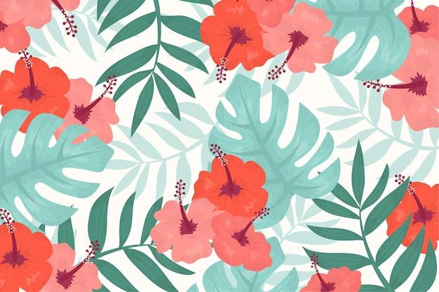 ズームのための熱帯の花の背景