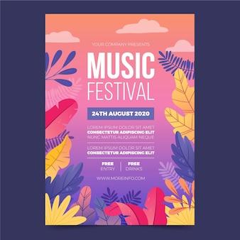Иллюстрированный флаер музыкального фестиваля