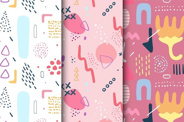 パターン抽象的な手描きパック