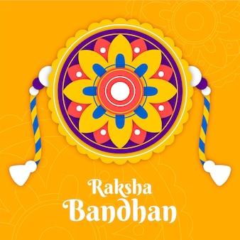 装飾のあるラクシャバンダン