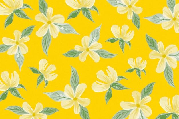 花と夏のパターンデザイン