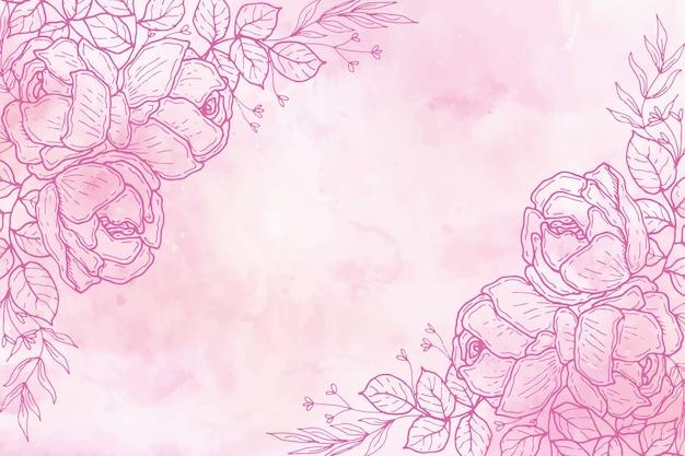 パステル手描きの背景
