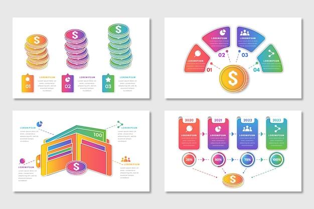 Коллекция финансов инфографики