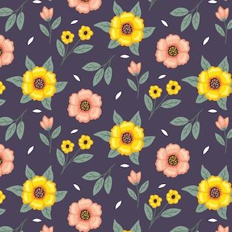 Цветочный цветочный узор