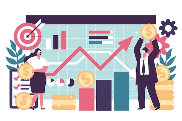 株式市場分析イラスト