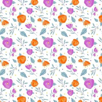 Минималистичный нарисованный цветочный узор фона