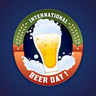 Плоский дизайн фона международный день пива