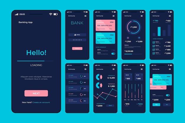銀行アプリのインターフェース