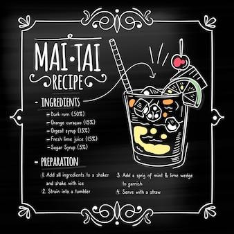 黒板カクテルレシピ