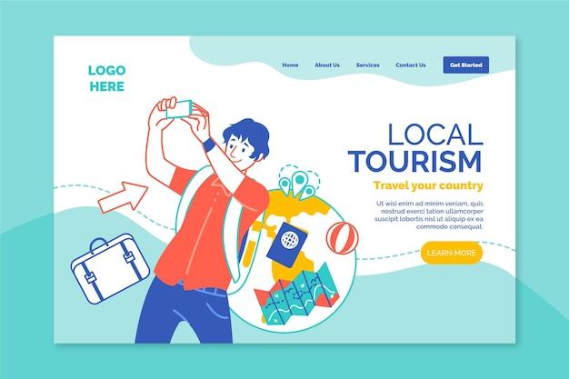 Шаблон целевой страницы для местного туризма