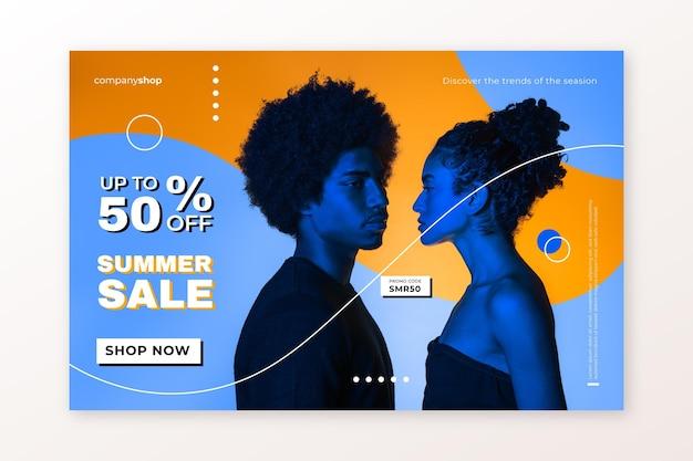 Модная распродажа шаблон целевой страницы с фото