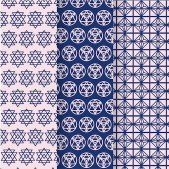 最小限の幾何学模様コレクション