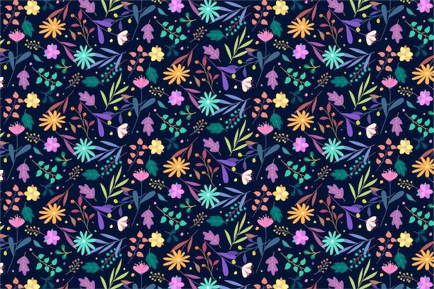 Красочный цветочный узор