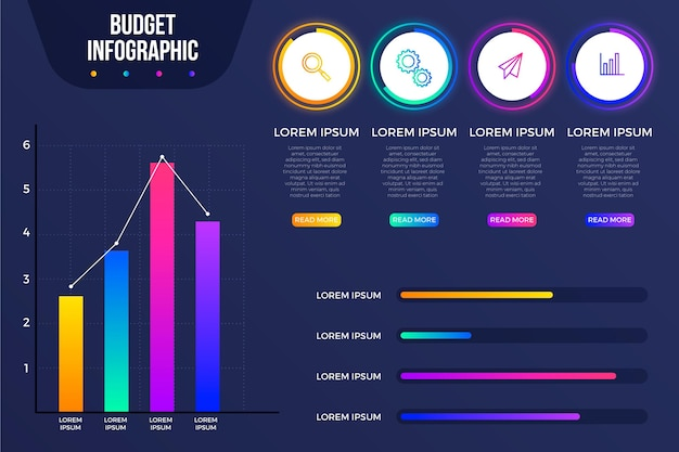 予算インフォグラフィックコンセプト