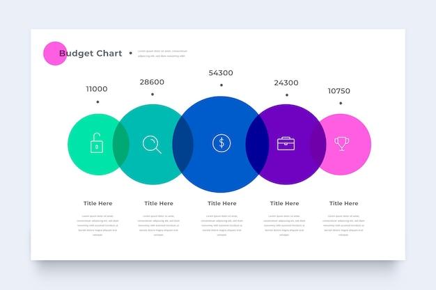 Красочный бюджет инфографики шаблон