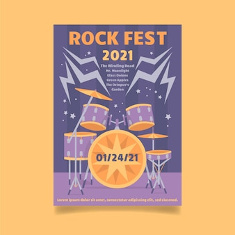 Тема плаката музыкального фестиваля