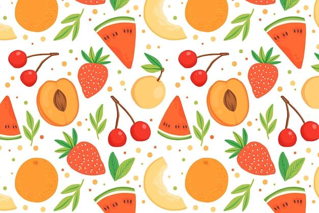 カラフルな果物パターン